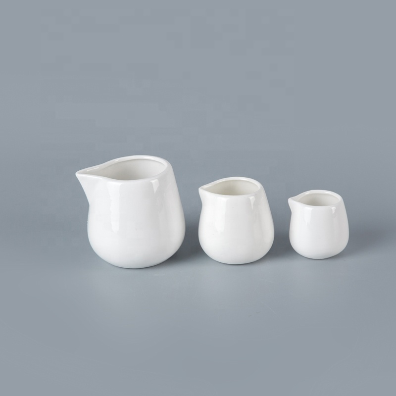 Good-Looking Without Handle Vajilla Hotel White Milk Jug, Hotel Crockery Ceramic Milk Jug^