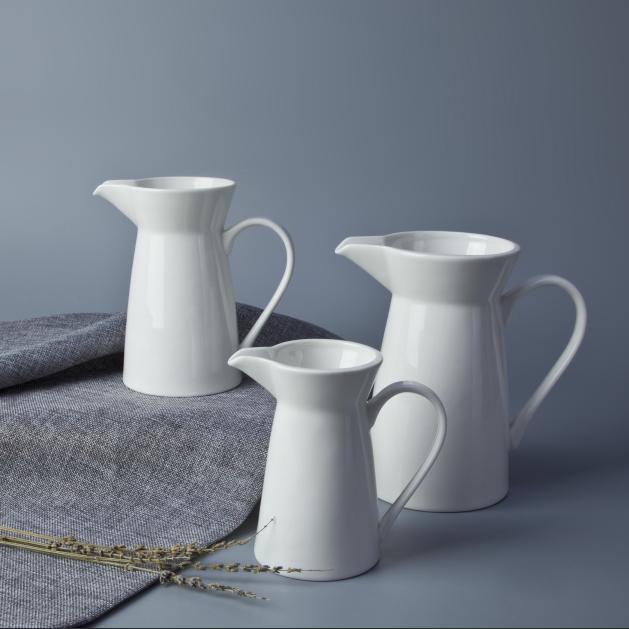 Hot product small medium big ceramic milk jug spanish water serving decorative milk jug