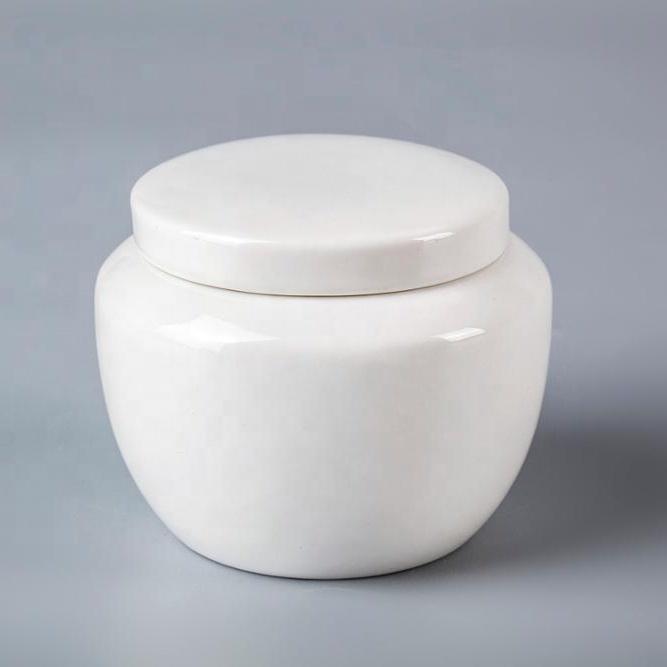 Hot Selling Ceramic Tableware For Hotel Unique Sugar Bowl, Hotel Crockery Ceramic Sugar Pot With Lid Sugar Pot*
