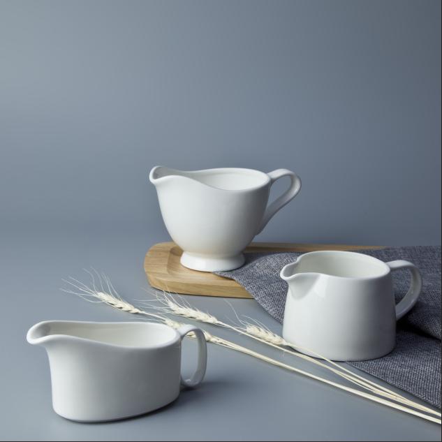 2017 New products hotel and restaurant ceramic tableware milk pot milk jug gravy boat