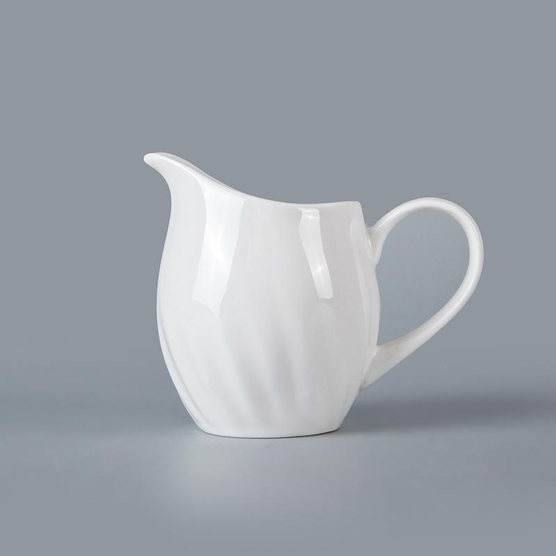 wholesale dinnerware sets suppliers durable modern ceramic porcelain dinner tableware accessories restaurant use white milk jar