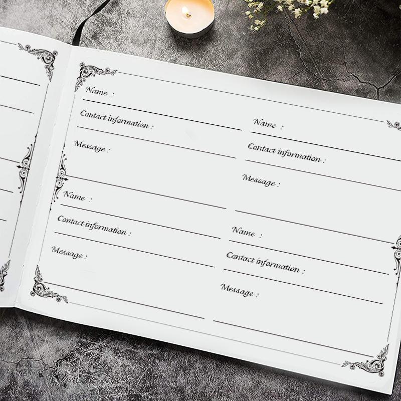 product-Dezheng-White Modern Beautiful Hardbound Wedding Sign In Baby Shower Guest Book Guest Book f-1
