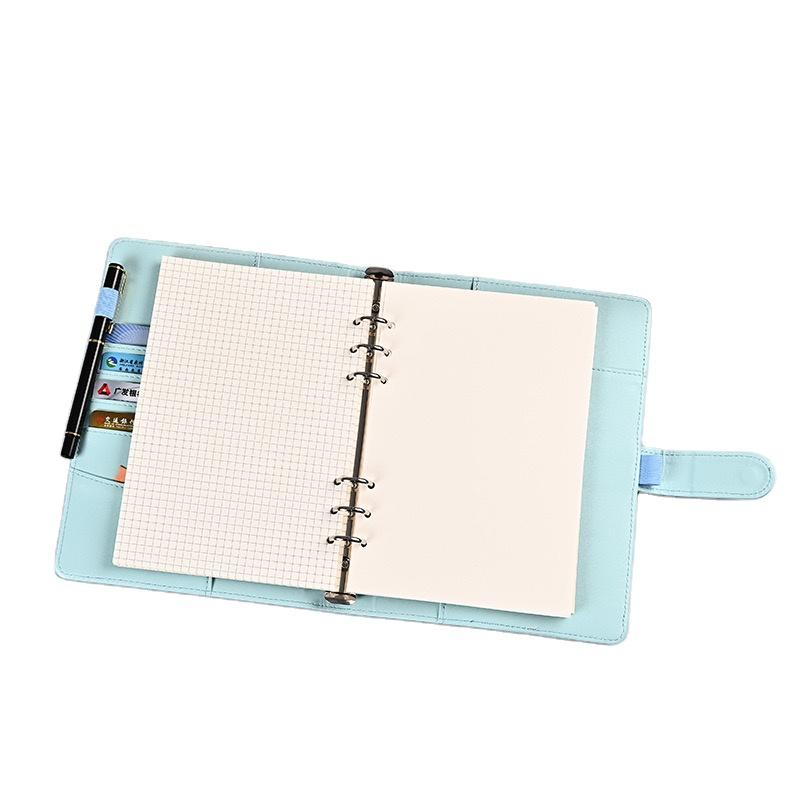 product-Custom A5 Notebook With Pen Loop Unique Notebook Journal Logo Print A5 PU Leather Notebooks -1