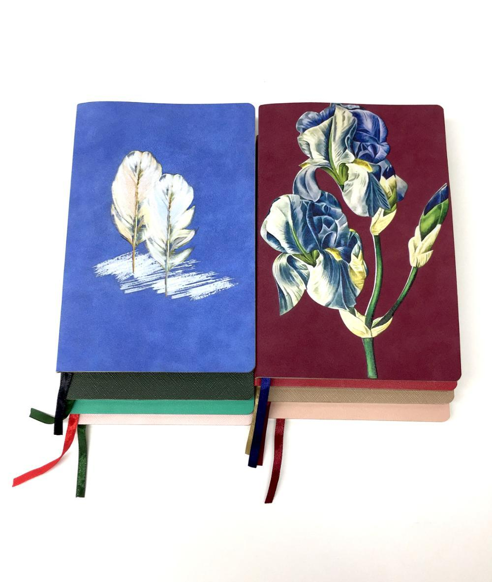 Custom Journal A5 Soft PU Leather Cover Notebook With The Gold Edge