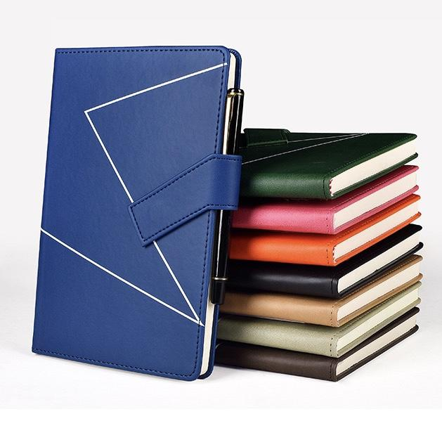 product-Custom A5 Notebook With Pen Loop Unique Notebook Journal Logo Print A5 PU Leather Notebooks -2