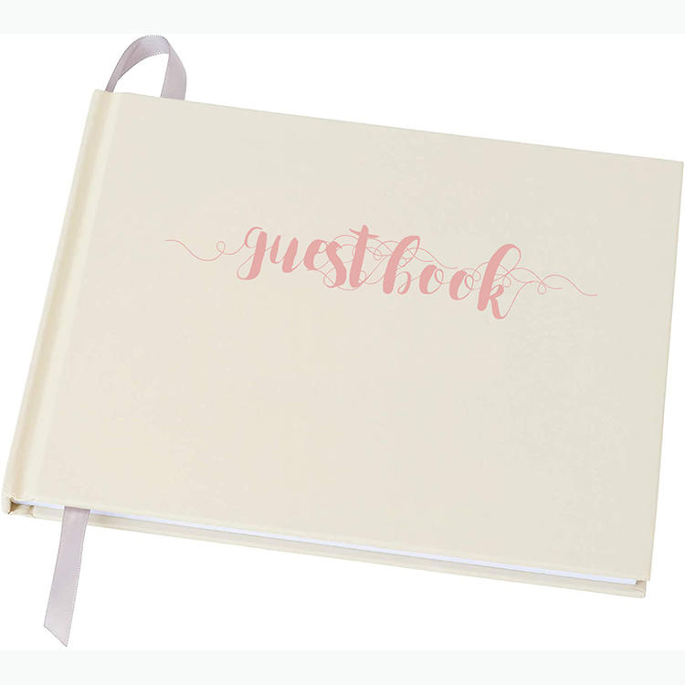Baby ShowerRegistry Sign-in Guestbook with Rose Gold Foil White Guest Book for Wedding