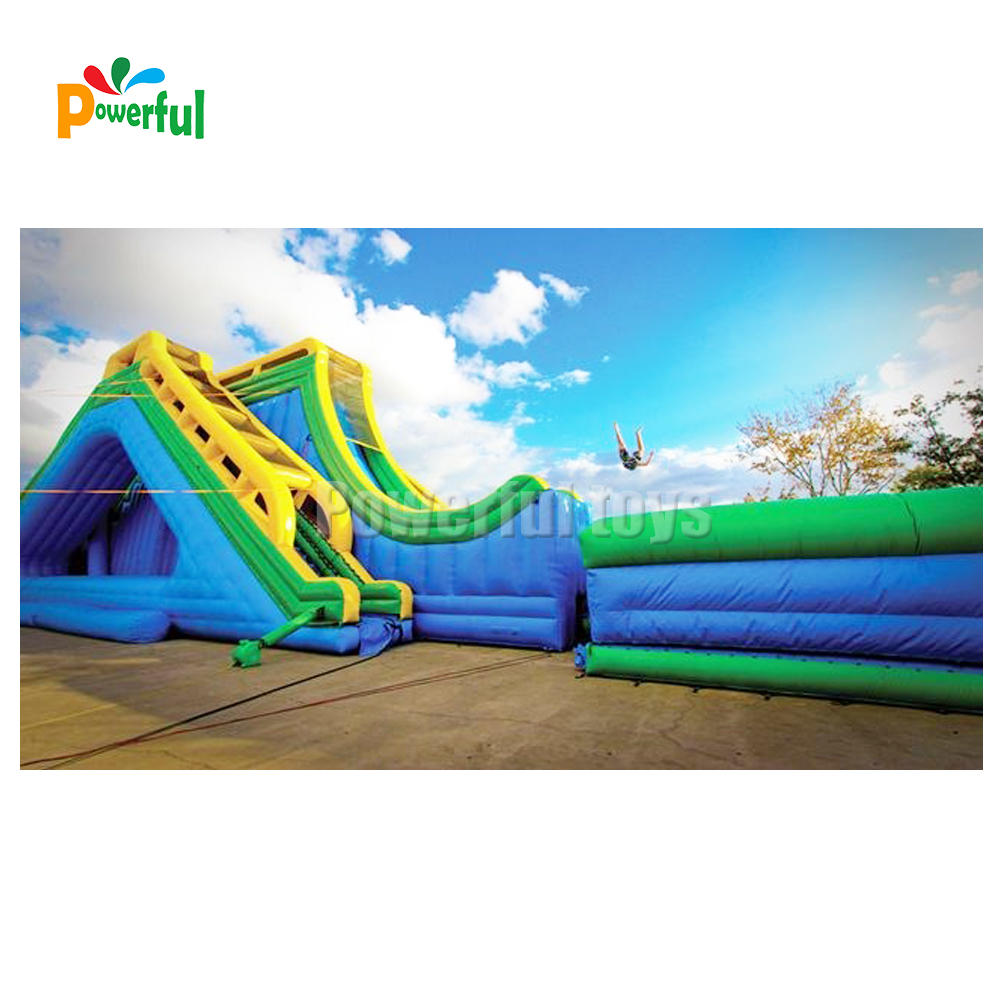 giant inflatable drop kick water slide Free Fall Drop Kick Inflatable Water Slide for sale