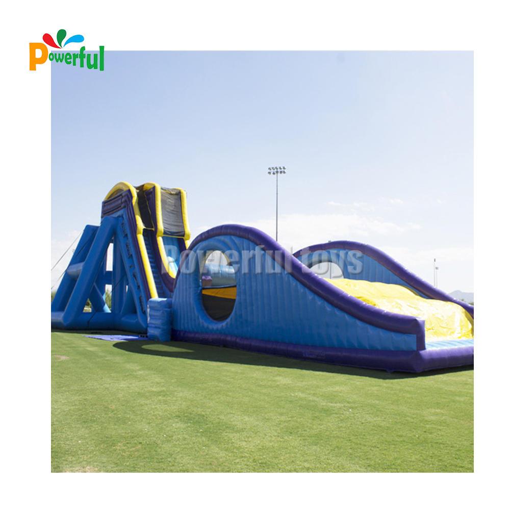 Splash inflatable water giant surf drop kick slide for rental
