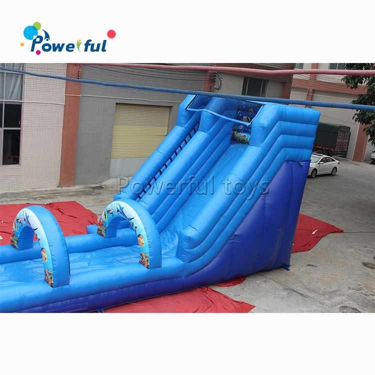 Commerical inflatable water slide with slip n slide