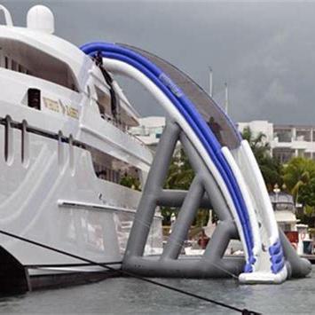 Customized FreeStyle Boat Dock Slide Inflatable water Slide Inflatable Yacht Slide