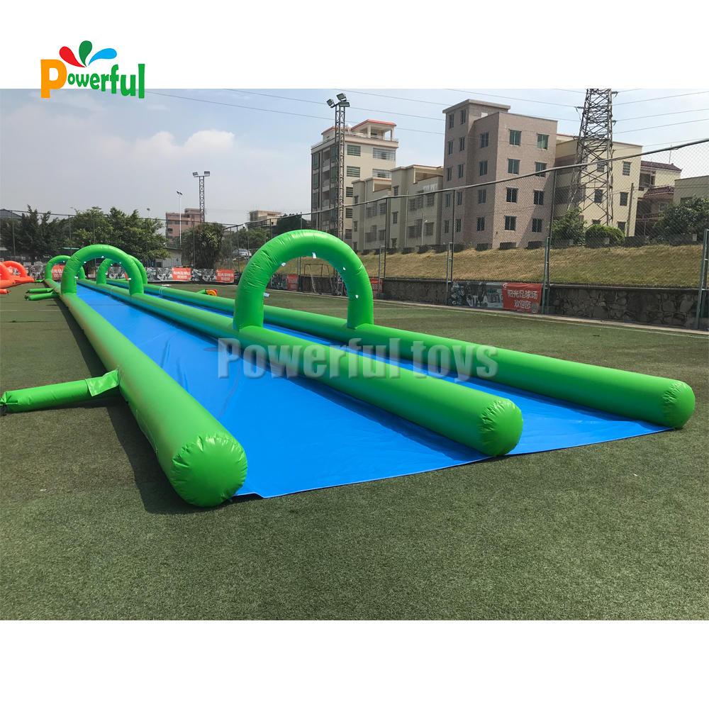 Inflatable 50m single track long slip n slide for adult