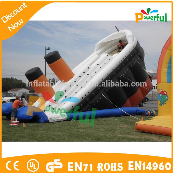 Hot sale amusement park slide titanic inflatable slide