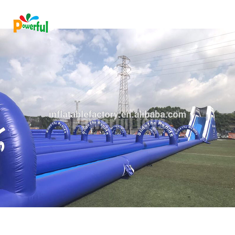 Giant inflatable city water slip n slide game