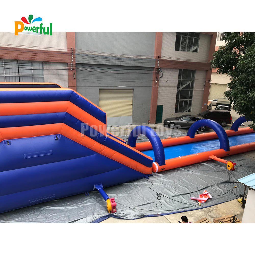 Hot sale 1000 ft/customized slip n slide inflatable water slide the city