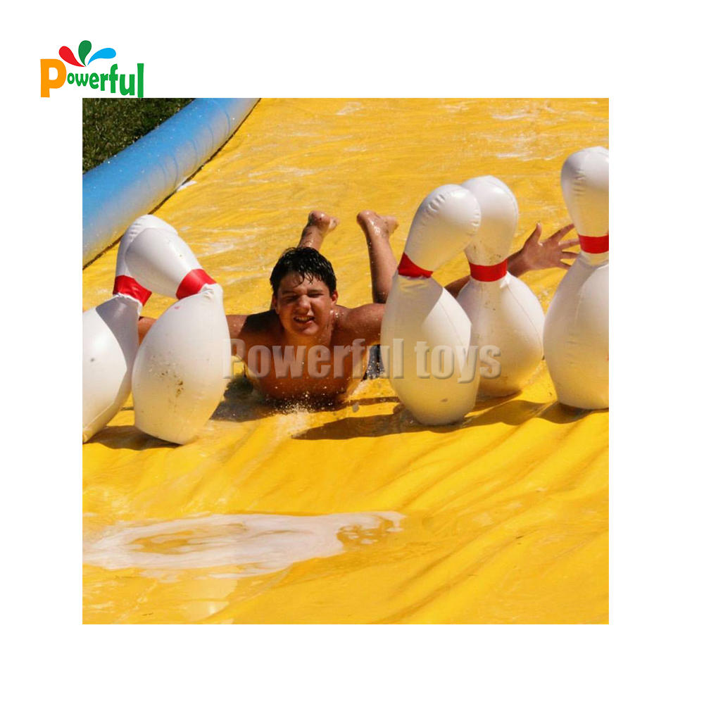 Long inflatable slip and slide adult bowling lanes waterslides
