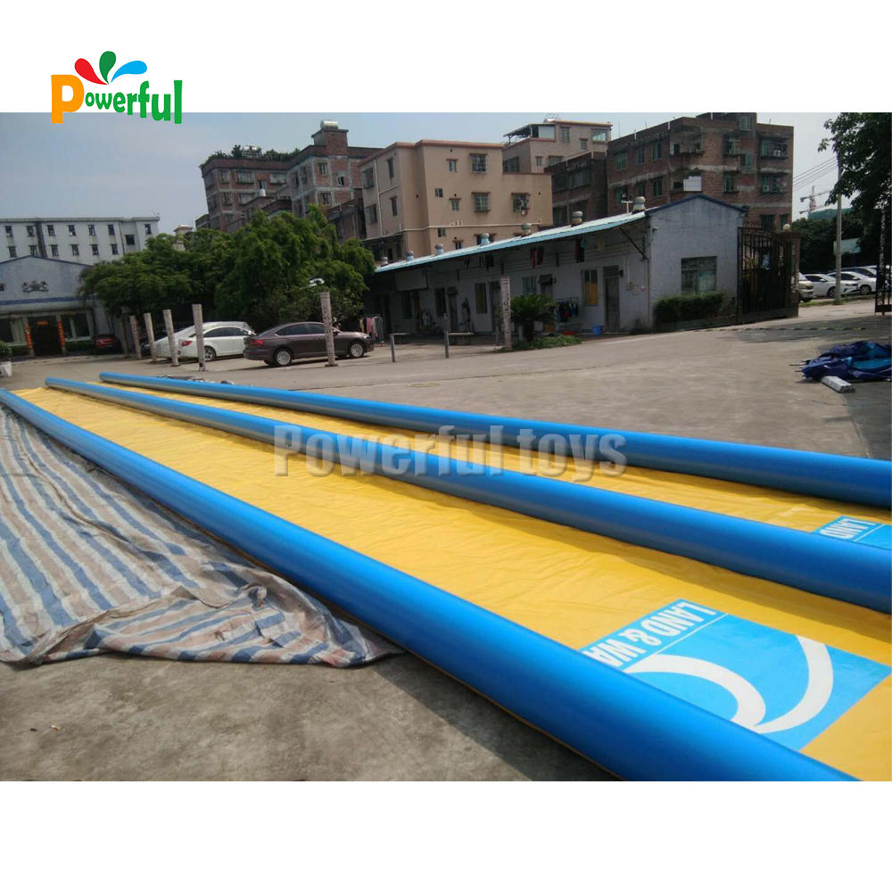 ready to ship air tight inflatable double lane slip n slide for adult