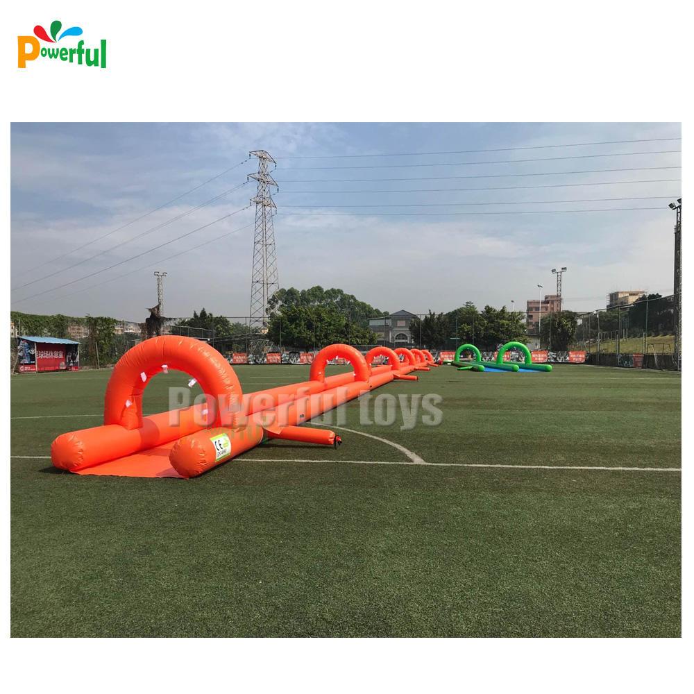 30 meters long inflatable nip slip on a water slide for sale