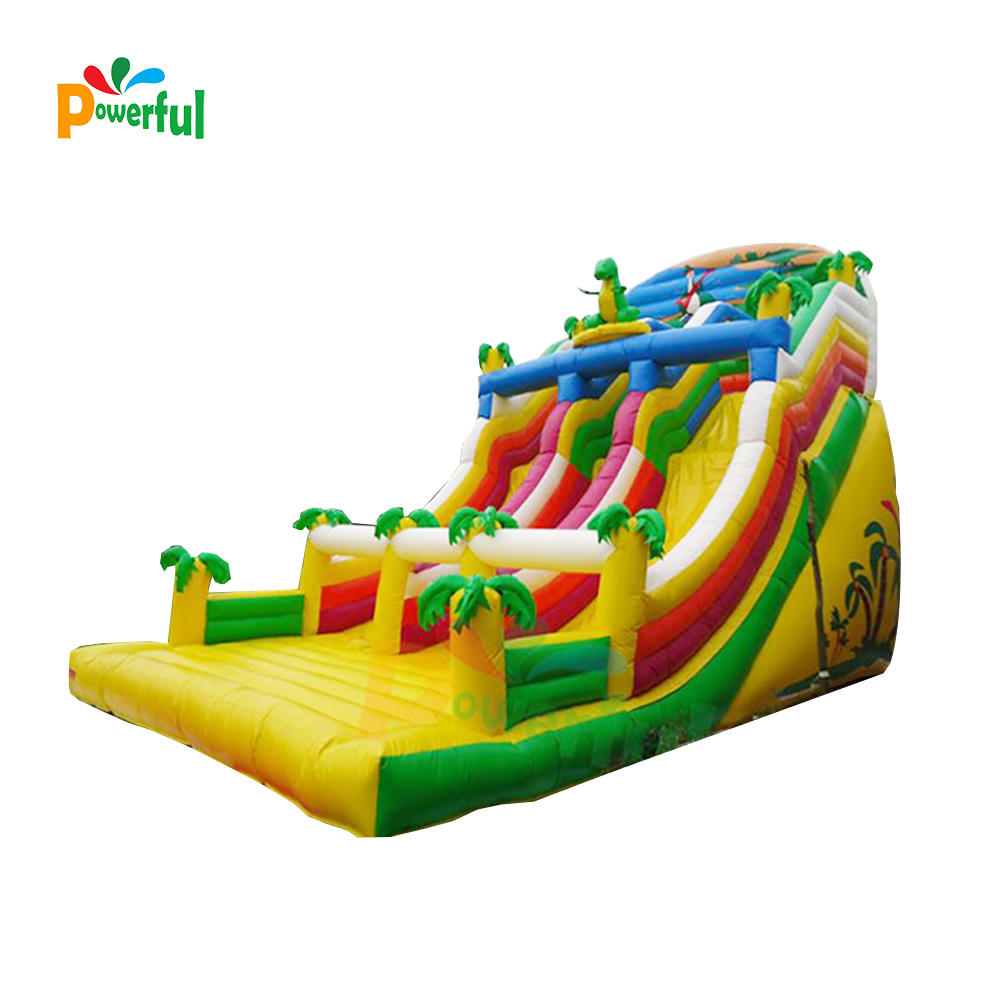 Thermal commercial jungle inflatable dry slide large inflatable jungle slide jungle sea inflatable dinosaur slide