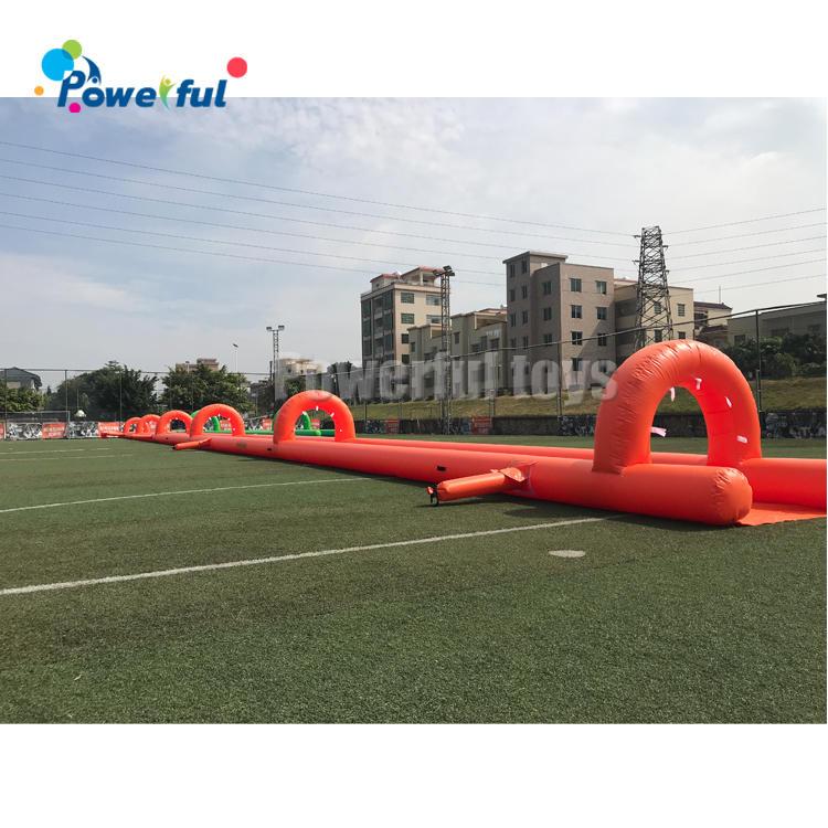 Summer custom slip n slide inflatable water slide single track slide