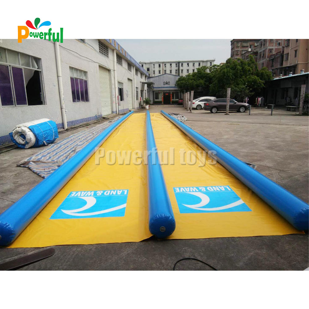 Seal double lane inflatable water escape slip slide