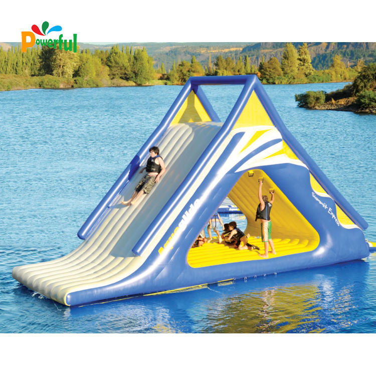 Funny floating inflatable water slides for lake