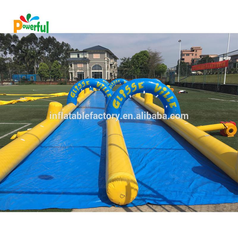 commercial inflatable water slip n slide for rental