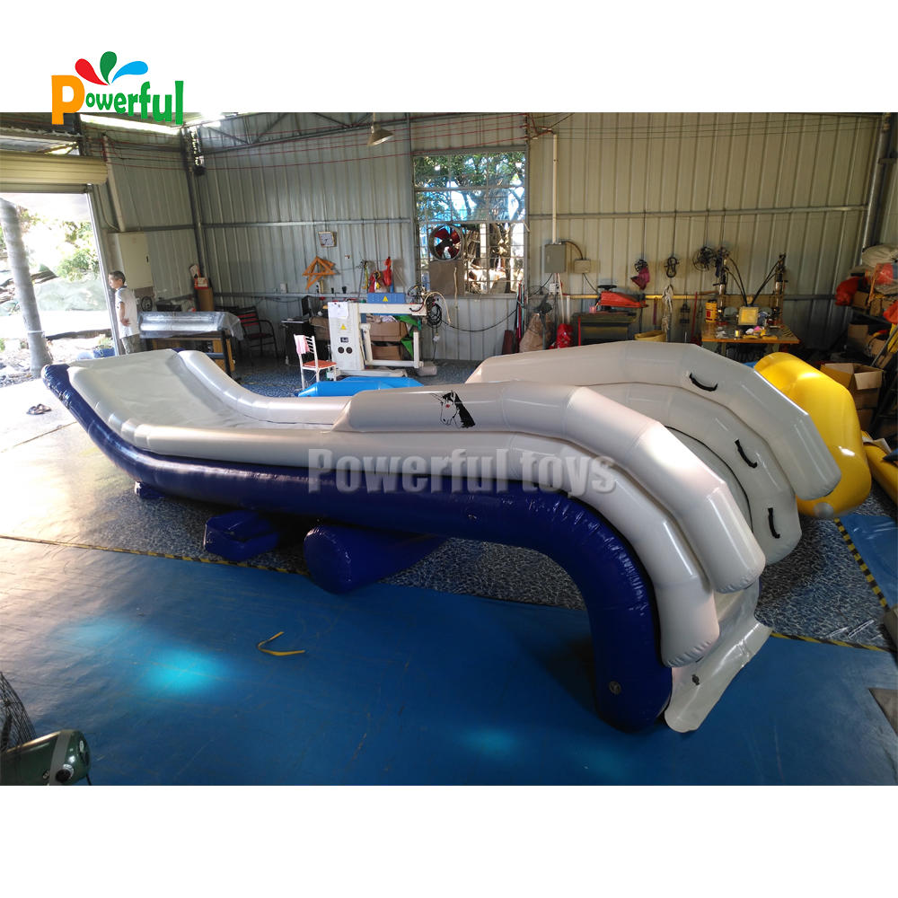 Custom inflatable houseboat slide boat dock water slide