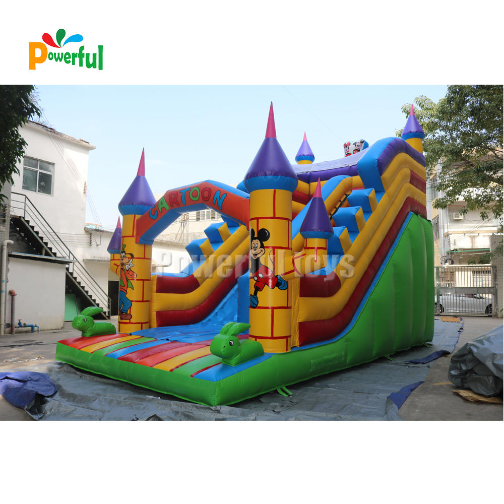 customized outdoor inflatable water slide,bouncer wet dry water park slide for sale