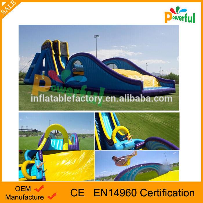 Commercial giant Inflatable Drop Kick Roller Coaster Slide