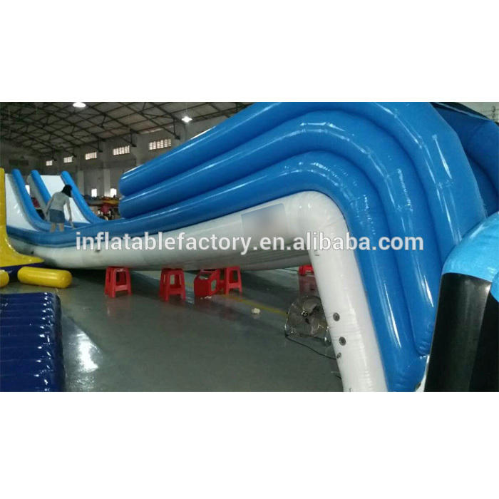 giant floating inflatable yacht slide water slide for sale