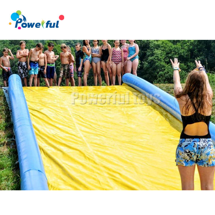 20m Length air tight inflatable slip n slide bowling game water slide