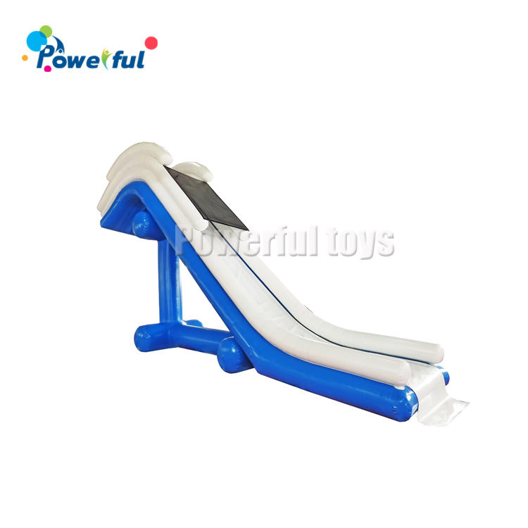 Factory priceinflatable water floating boat dockyacht slide