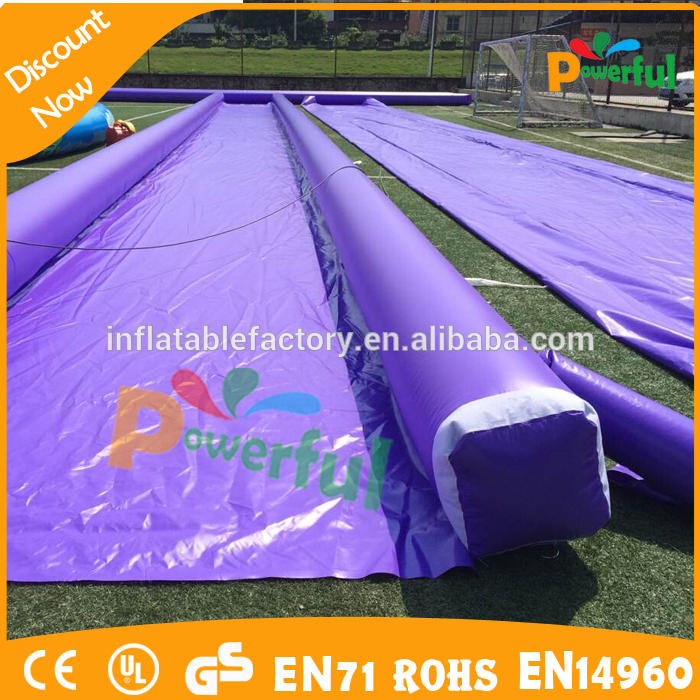 2015 new 200m long customized inflatable water slide, hot purple inflatable slide for adult