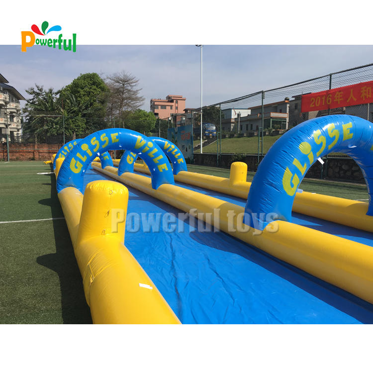 Funny jumping slide, inflatable bouncy slide for pool