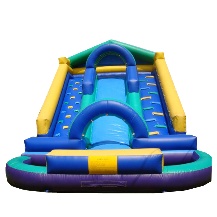 Double ladder and single line inflatable slide for kids
