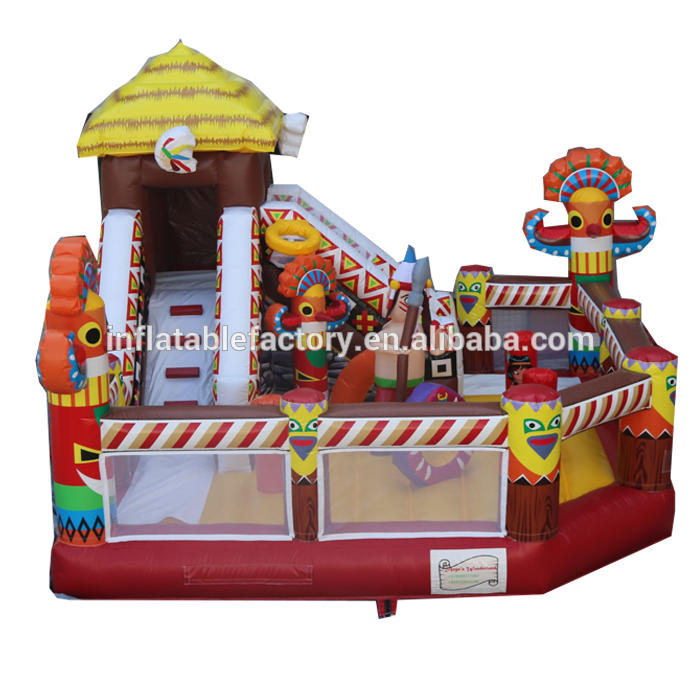 Inflatable slide with bouncer