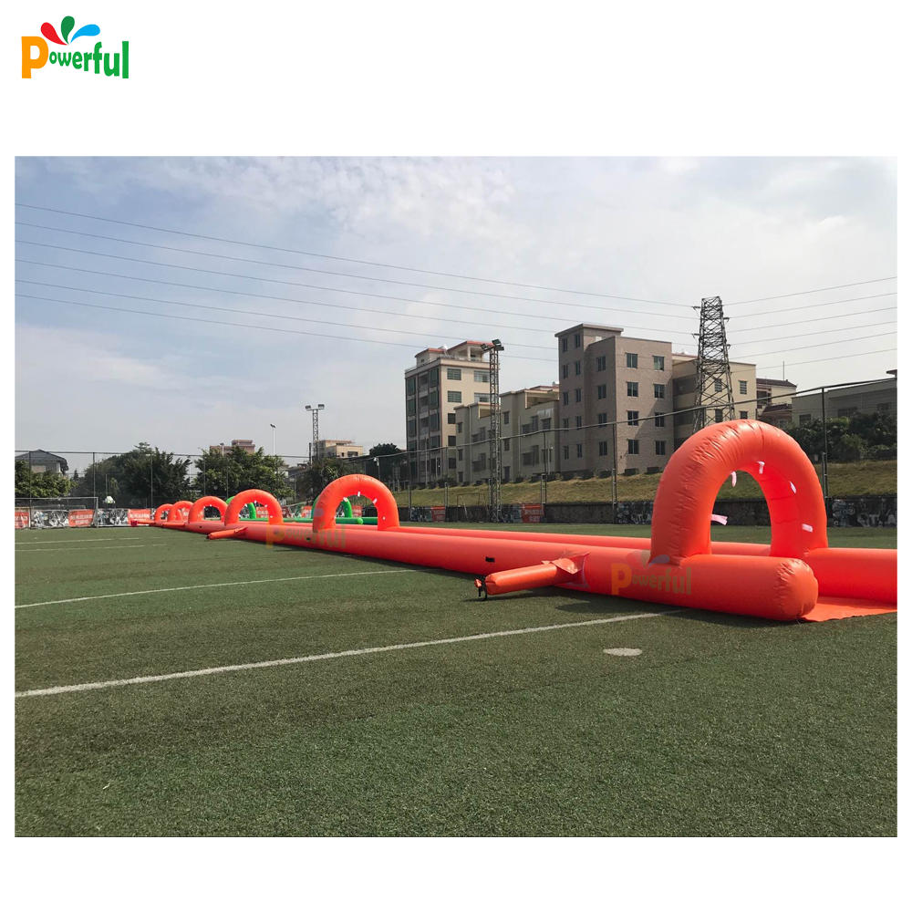 20m/50m/100m long giant inflatablewater slide,lawn slip n slide for summer party