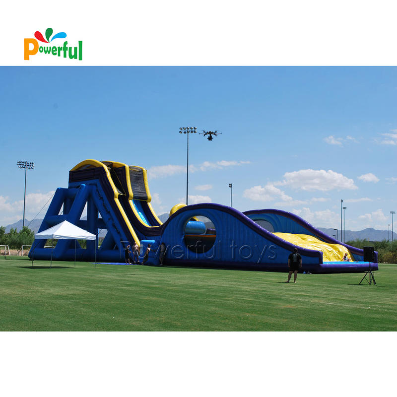 Strong PVC tarpaulin giant TheWaterfallSlide inflatable dry slide for amusement park