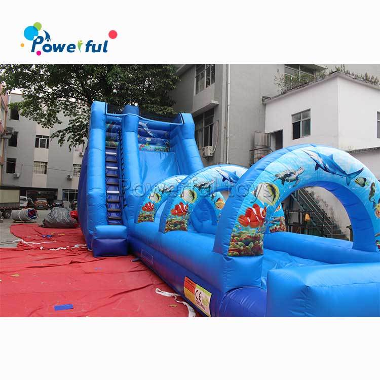 Commerical inflatable water slide with slip n slide