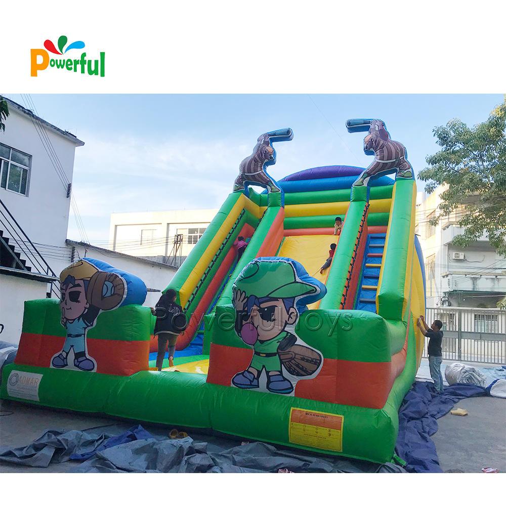 Dry inflatable slide for kids