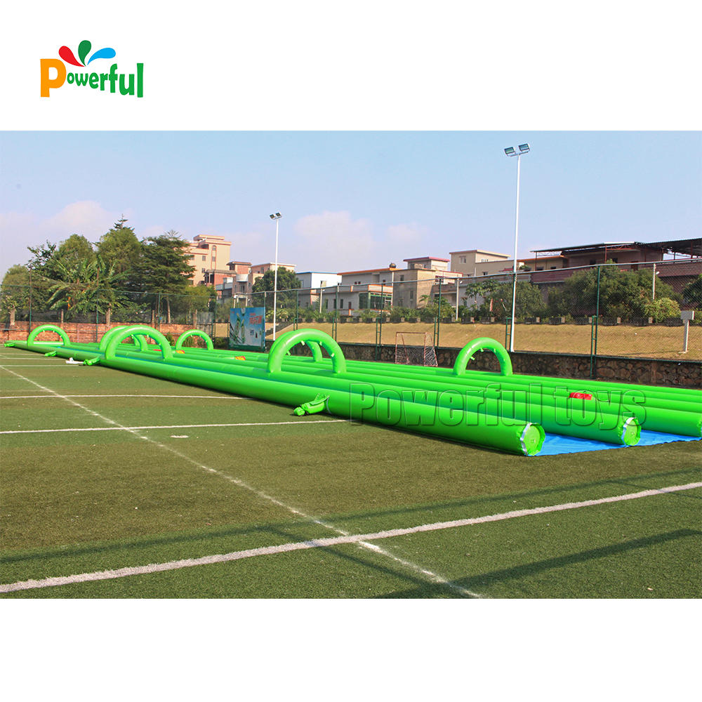 summer game giant inflatable slide the city,inflatable water slide,1000ft inflatable slip n slide