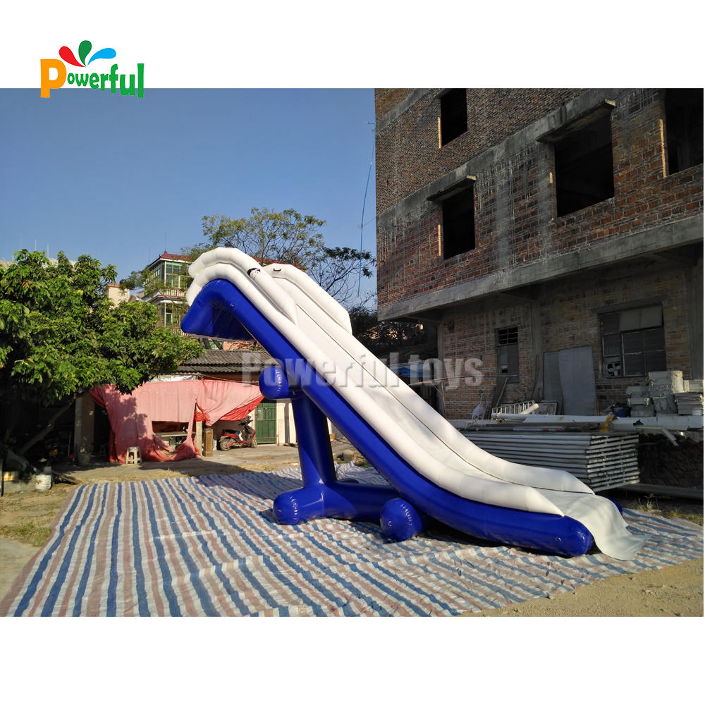 Inflatable yacht slide houseboat game inflatable yacht floating water slide