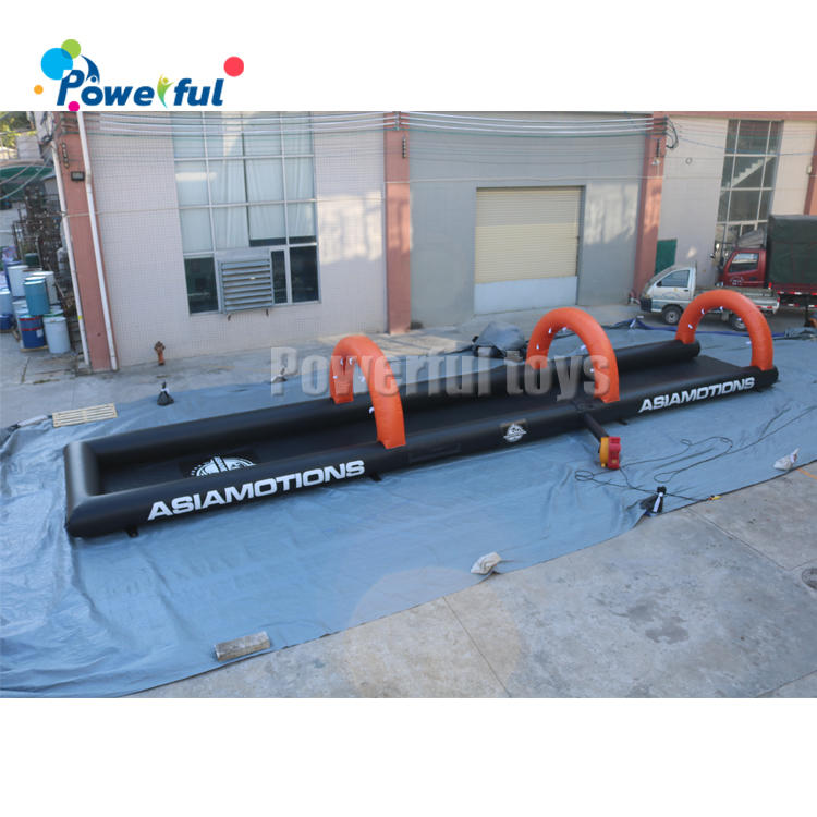 Customized size water park slip n slide inflatable water slide the city