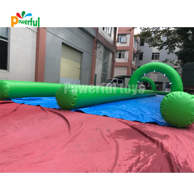 Customized size summer giant inflatable slip n slide with arches