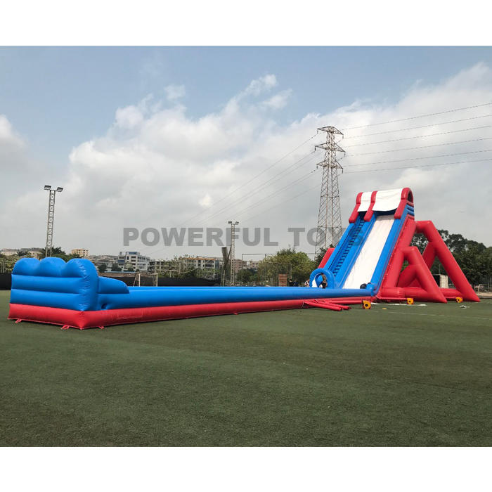 Factory price giant inflatable hippo water slip n slide for sales