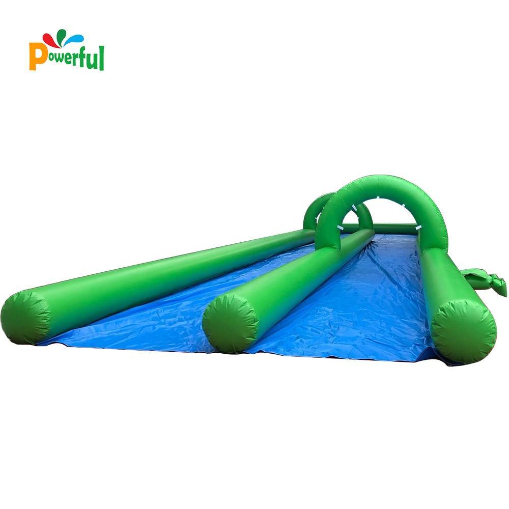Commercial cheap double lanes slide inflatable water slide slip n slide for kids