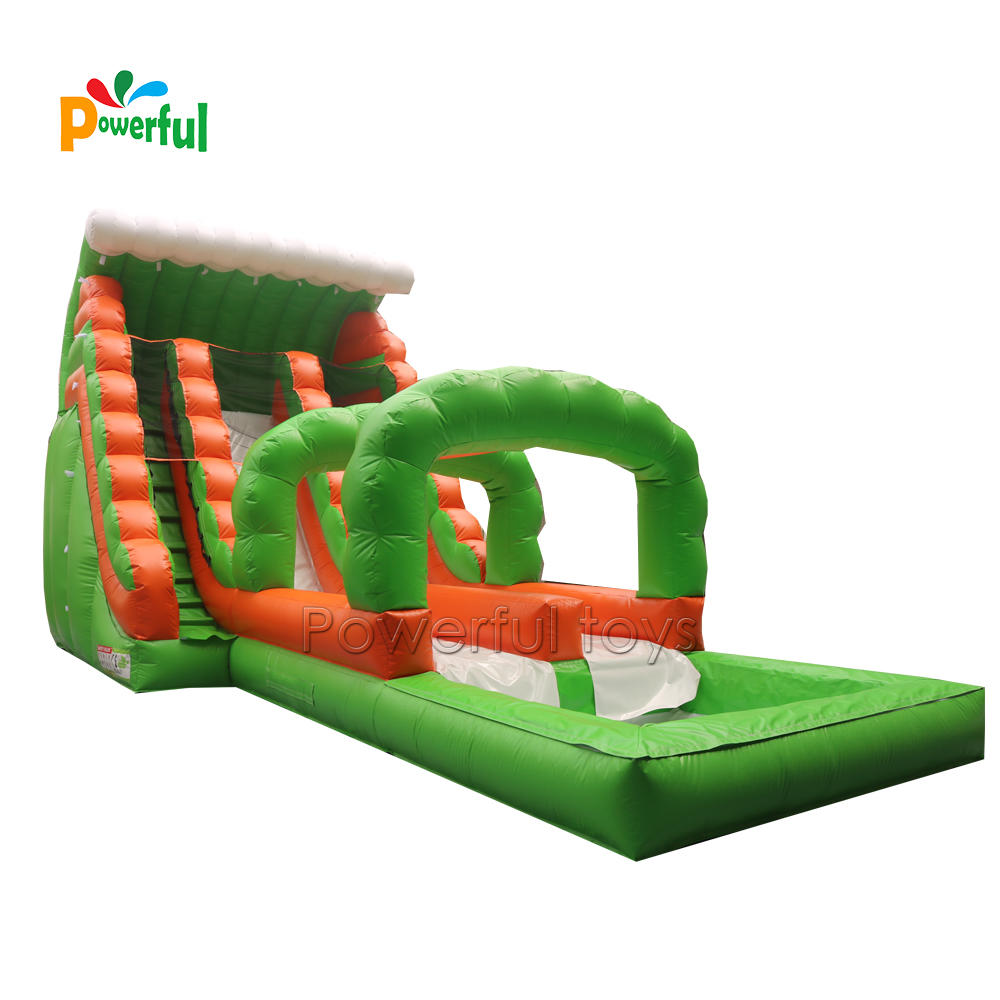 outdoor big cheap price inflatable water slide with swimming pool