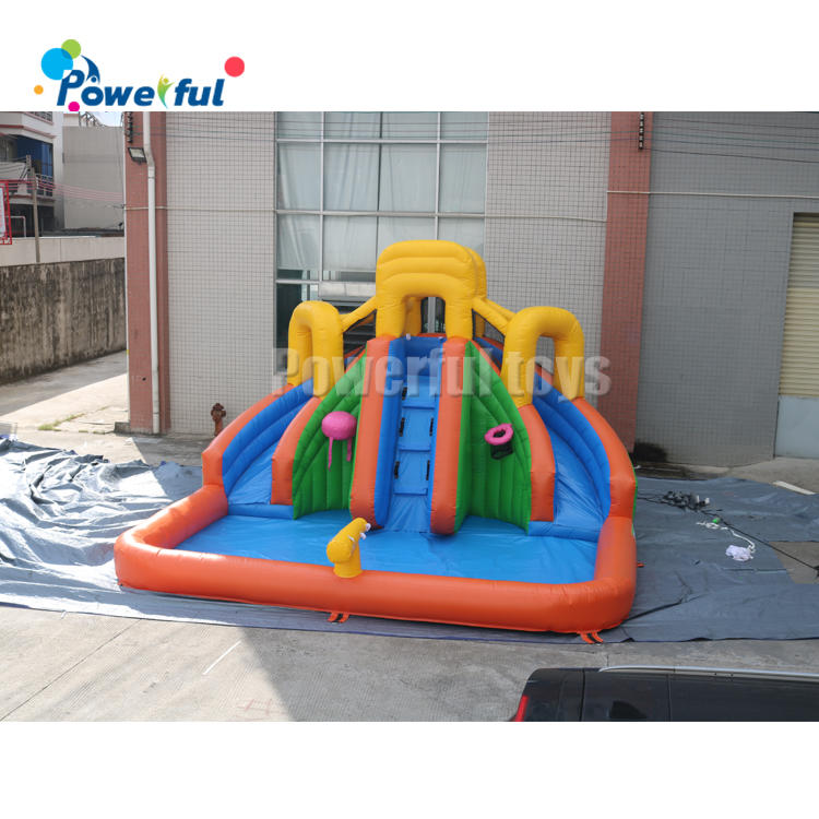 Inflatable Water Slide Pool Bouncy Waterslide for Kids Backyard