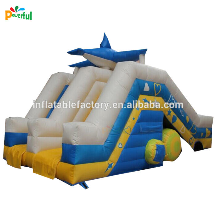 Outdoor inflatable water pool slide for trampoline park