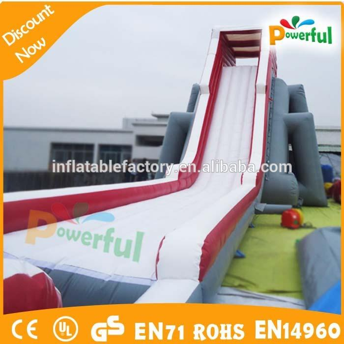 New great popular inflatable zip line/Inflatables cliff jump slide